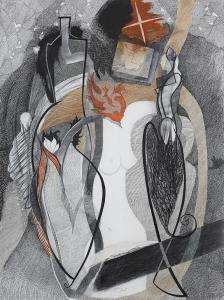 WERK 1229 | Jahr 2009 | Pastell und Kohle auf Papier.<br> Format: 150 x 112 cm