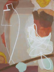 WERK 1246 | Jahr 2011 | Acryl und Pastell auf Papier<br>Format: 150 x 113 cm