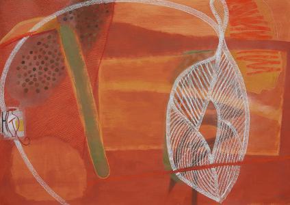 WERK 1257 | Jahr 2011 | Acryl und Pastell auf Papier<br>Format: 99 x 140 cm