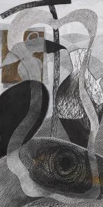 WERK 1275 | Jahr 2012 | Pastell, Bleistift und Kohle auf Papier.<br> Format: 140 x 70 cm
