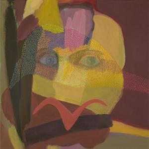 WERK 1286 – Aus der Serie «Regards» | Jahr 2013 | Öl auf Leinwand<br>Format: 50 x 50 cm