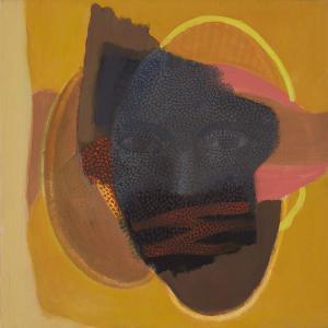 WERK 1287 – Aus der Serie «Regards» | Jahr 2013 | Öl auf Leinwand<br>Format: 50 x 50 cm