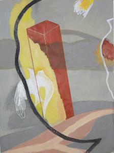 WERK 1296 | Jahr 2011 | Acryl, Kohle und Pastell auf Papier<br>Format: 150 x 111 cm